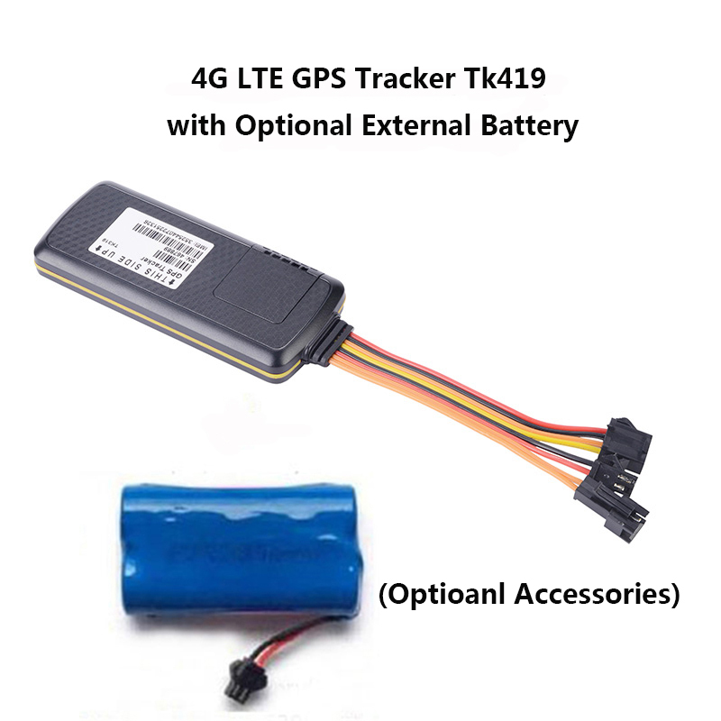 4g lte gps tracker with external battery