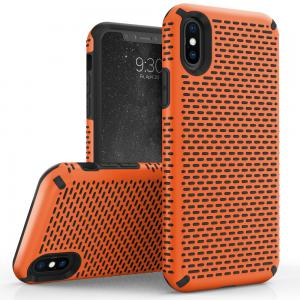 Apple iPhone Xs 5.8 - ECHO Series Dual Layered Case - Orange/Black