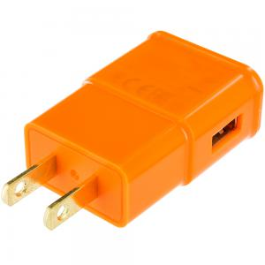 2 Amp Charging Wall Travel Charger Adapter - Orange for Apple iPhone Xs