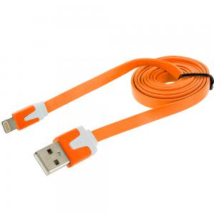 Orange Noodle Lightning Data Sync Cable Charger (3FT) for Apple iPhone Xs