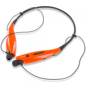Bluetooth Headset Wireless Stereo Headphones Earphones Sport Neckband Handsfree - Black / Orange for Apple iPhone Xs