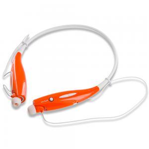 Bluetooth Headset Wireless Stereo Headphones Earphones Sport Neckband Handsfree - White / Orange for Apple iPhone Xs