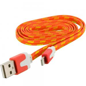 Orange Rope Braided Heavy Duty Lightning Data Sync Cable Charger (3FT) for Apple iPhone Xs