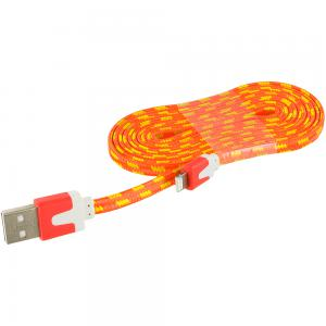 Orange Rope Braided Heavy Duty Lightning Data Sync Cable Charger (6FT) for Apple iPhone Xs