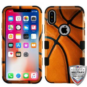 Apple iPhone Xs 5.8 - Basketball-Sports Black TUFF Hybrid Case Cover