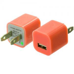 Wall Travel Charger Cube (1.0A) Orange for Apple iPhone Xs